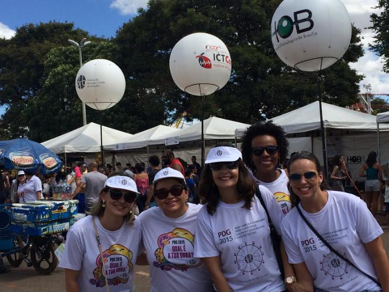 Colaboradores da CDRB no evento Brasília em Movimento